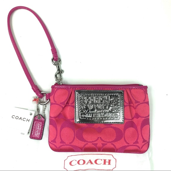Coach Handbags - Coach Poppy Signature Wristlet 42885